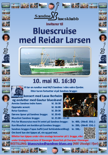 Bluescruise med Reidar Larsen